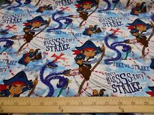 """2 yards Disney Jake in Neverland """"Danger From the Deep"""" Fabric"""