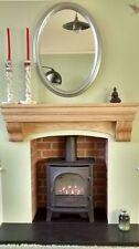 Fireplace shelf, Over cooker shelf, AGA shelf with corbels, solid prime oak