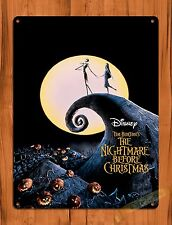 TIN SIGN Disney's Nightmare Before Christmas Jack Movie Art Poster