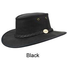 BARMAH Bronco Foldable 100 Australian Made Cowboy Akubra Style Hat Sz S-2xl S 55cm Black