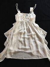 Women's JONQUIL BY DIANE SAMANDI NWT Semi Sheer Ivory Nightgown SZ S