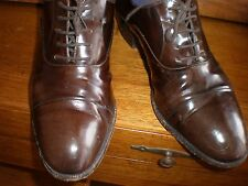 VTG Men's Mario Bruni Italy BROWN  Patent Leather Oxford Dress Shoes Size 9.5 M