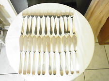Schönes Art -Deco Fischbesteck 800 Silber 12 Pers. klassisches Dekor Herst. BS