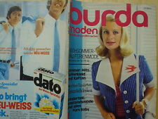 Burda Moden 07/72 Umstandsmode Baby Dirndl Mieder Spitzenkleider Ferien Dessous