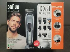 Braun MGK7221 All In One Trimmer, Shave and Trim Kit 10 in 1 German design gift
