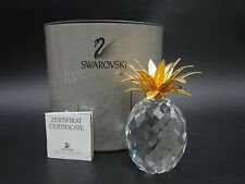 Swarovski Crystal Large Pineapple W/ Gold Textured Leaves 7507 105 001 / 10044