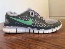 Nike Free Run, 395912-013, Men's Running Shoes, Gray / Green, Size 11.5, Freerun