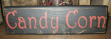PRIMITIVE COUNTRY CANDY CORN FALL  SHELF SIGN