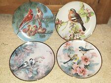 Lot of 4 Franklin Mint & Bradex Birds Collector Plates