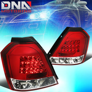 FOR 2004-2008 CHEVY AVEO 5 HATCHBACK PAIR RED LENS LED TAIL LIGHT BRAKE LAMPS