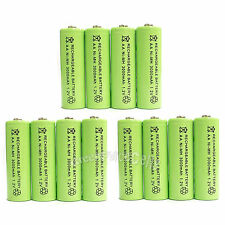 12 x AA 3000mAh Ni-Mh 1.2V rechargeable battery Cell for MP3 RC Green US Stock