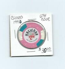 Hacienda Casino Chip, 6th Issue, Closed 1996, Clean