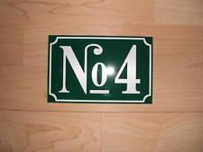 Hausnummer-Schild Kunststoff 3 mm mit Wunschzahl und Farbe NEU