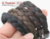 Women Lady Braided Wig Ponytail Elastic Rope Head Hair Band Holder Accessory
