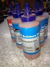 HILKA Marking Chalk  10 x 225g Bottle Refill for Builders Brick Lines