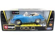 BBURAGO 18-12025 1961 61 PORSCHE 356 B 356B CABRIOLET 1/18 BLUE