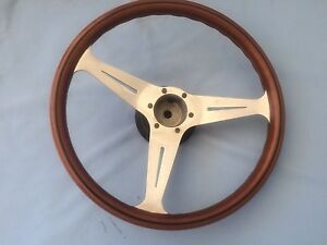 "Rolls Royce Silver Shadow , Bentley Wood Steering Wheel Nardi 15.3"""