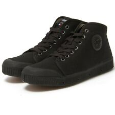 Springcourt B2 Mens Organic Canvas Black Casual Sneakers Tennis Shoe, Black, 43