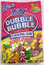 Dubble Bubble Chewing Gum 1980 Pieces 6 Flavors Bulk Candy Vending Machine 5 LB