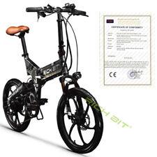"RICHBITebike  Electric Mini Folding Bike 250W 48V BMX 20"" Road Bicycle black"