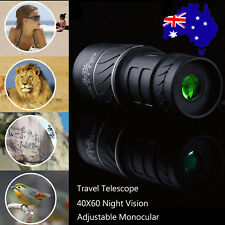 Outdoor Travel Monocular Telescope 40*60 Night Vision Handheld HD Optics -AU