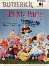 """Butterick 152 ~ 16"""" Doll Clothes Sewing Pattern Uncut ~ It's My Party"""