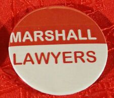1048-BS Red and White JOHN MARSHALL Badge.