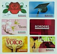 Borders Waldenbooks Gift Card LOT of 6 / Rose, Mom - 2005 to 2009 - No Value
