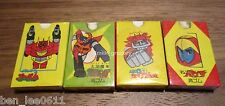 4pcs Vintage 70s Gowapper 5 Godam Gaiking Diapolon Eraser Japan MINT