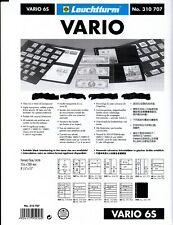 *VARIO STOCK SHEETS, PAGES BY LIGHTHOUSE 1-50 PGS YOU PICK 1'S YOU WANT BLK, CLR