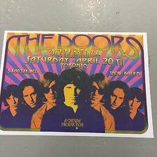 THE DOORS - CONCERT POSTER TORONTO SATURDAY 20TH APRIL   (A3 SIZE)