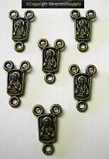 6 Sacred Heart of Jesus rosary center piece bronze plt Catholic religious CFP101