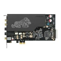ASUSTek sound card PCI-E 7.1 ch output card included Essence STX II 7.1