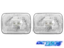 7X6 H6054 Stock Sealed Beam Glass Lens Headlight Metal Headlamp Halogen Pair