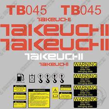 Takeuchi Tb 045 Mini Escavatore Decalcomanie Equipaggiamento TB045 TB-045 TB45
