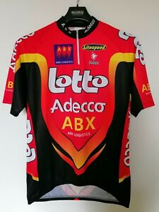 LOTTO ADECCO ABX (Ciclismo vintage, Jersey Maillot, Abbigliamento Nalini, tg.8°)