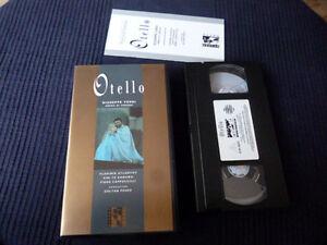 VHS Video Tape Verdi OTELLO Arena Verona Atlantov Te Kanawa Zoltan Pesko 1982