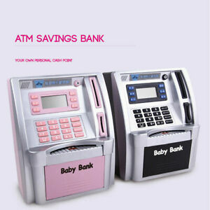 Mini ATM Safe Electronic Piggy Cash Coin Bank For Kids Password Lock