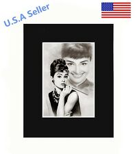 Audrey Hepburn Portrait 8x10 matted Art Print Poster Decor picture Gift Display