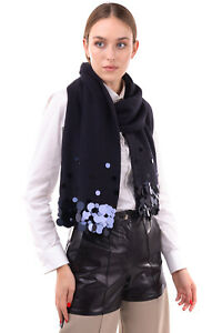 RRP €105 ARMANI JEANS Stole Scarf Wool Blend Rectangle Sequined