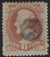 US Stamps - Scott # 159 - 6c Lincoln - Neat Fancy Cancel                 (L-549)