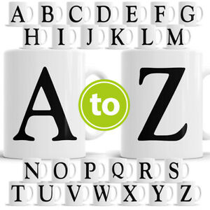 Alphabet Mug Letter Mugs Initial Coffee Cup Birthday Fathers Day Gift