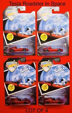Hot Wheels Tesla Roadster Space 1st Car to Orbit the Sun, Lot Of 4  2018 Limited