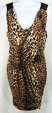 Fredericks of Hollywood Leopard Print Sexy Dress Size XL Mesh back Ruched