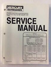 Service Manual Mercury 4 4.5 7.5 9.8 20 40 Sailpower Outboard NEW 90-86136 1993