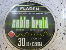 FLADEN 150m FISHING BRAID 30lb YELLOW 0.20 Teflon Coated Braided line for Reel
