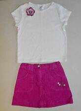 "GYMBOREE ""Pretty in Plum"" 2pc Shirt & Corduroy Skirt Set Outfit, Size 5"