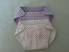 """Reversable fabric diapers for bitty baby or most 15"""" dolls"""