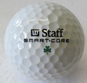 OLDER WILSON SMART CORE GOLF BALL-UNIQUE WITH GREEN SHAMROCK INSTEAD OF A NUMBER