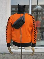 Trainingsjacke orange Sportjacke D7 Freizeitjacke 70er TRUE VINTAGE sport jacket